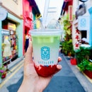 Japanese Matcha Strawberry from Little Po (小波)  Very clearly layered with matcha, fresh milk and strawberry jam but I couldn't taste the matcha at all.