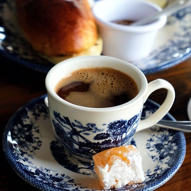 Firebake – Woodfired Bakehouse & Restaurant Due to Greek coffee's strong flavour, this comes with a small Loukoumi.