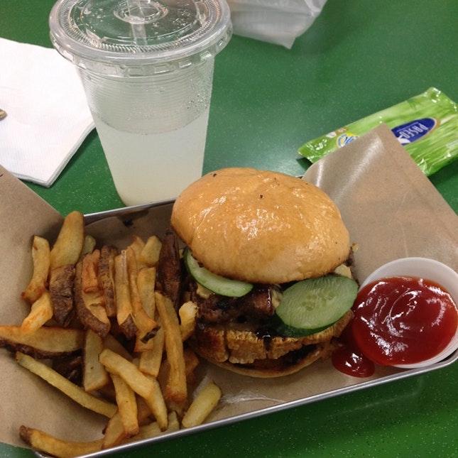 Roasted Pork Belly Burger