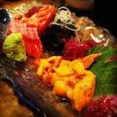 Bro & my favorite! #uni #salmon #sashimi  #dinner #family #birthday #celebration