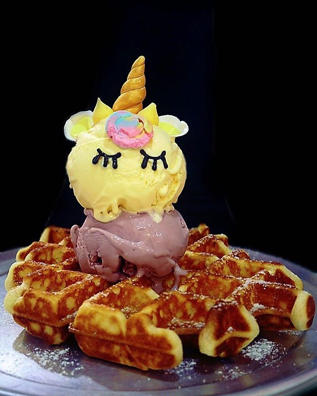 Have an Unicorn Whoaffles ($14) to chase away Monday blue!