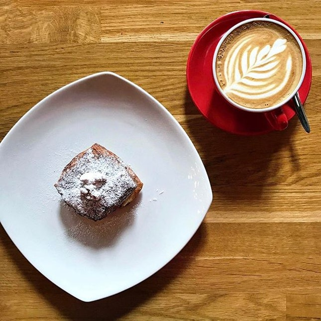 Feels like a 'Salted Caramel Danish x Flat White' kind of afternoon .