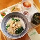 Tofu with White & Brown Rice Bibimbap