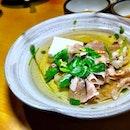 A4 Wagyu shabu shabu in a subtly light and flavourful oden broth.