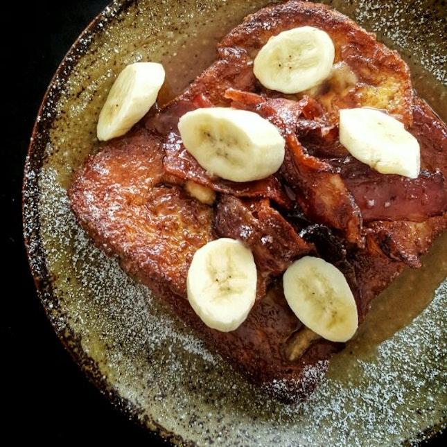 Banana & Bacon Brioche French Toast