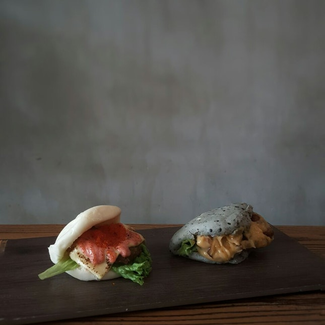 Salmon Mentai Bao & Salted Egg Chicken Bao