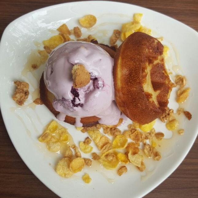 Mini Me Waffle Wif Wildberry Gelato N Honey Oats $8.90