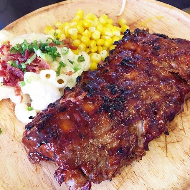 BBQ Pork Ribs ($14.90) @ By The Fire  A true bargain.