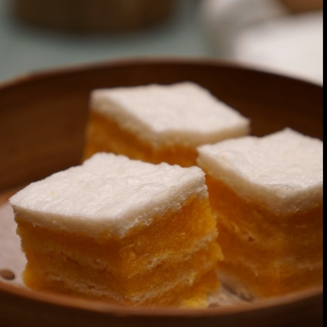 Steamed Layer Cake With Salted Egg Yolk