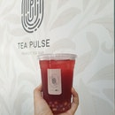 Hibiscus Hawthorn Kombucha + Chestnut Pearls & Less Sugar @ Tea Pulse [$5.60/2]