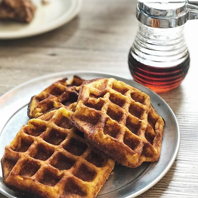 Perhaps the simplest thing on the menu, but these cornbread waffles are so damn good there's nothing simple about the pleasure it gives you when you bite into the warm, fluffy, extremely fragrant waffles drizzled with smoked maple syrup.