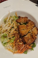 Dry Noodles With Grilled Chicken