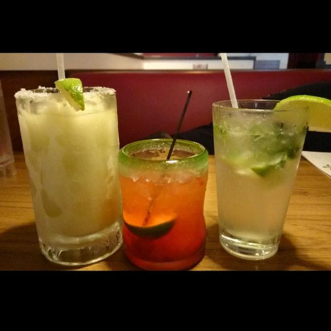 Frozen Margarita, Mojito And Triple Berry Margarita