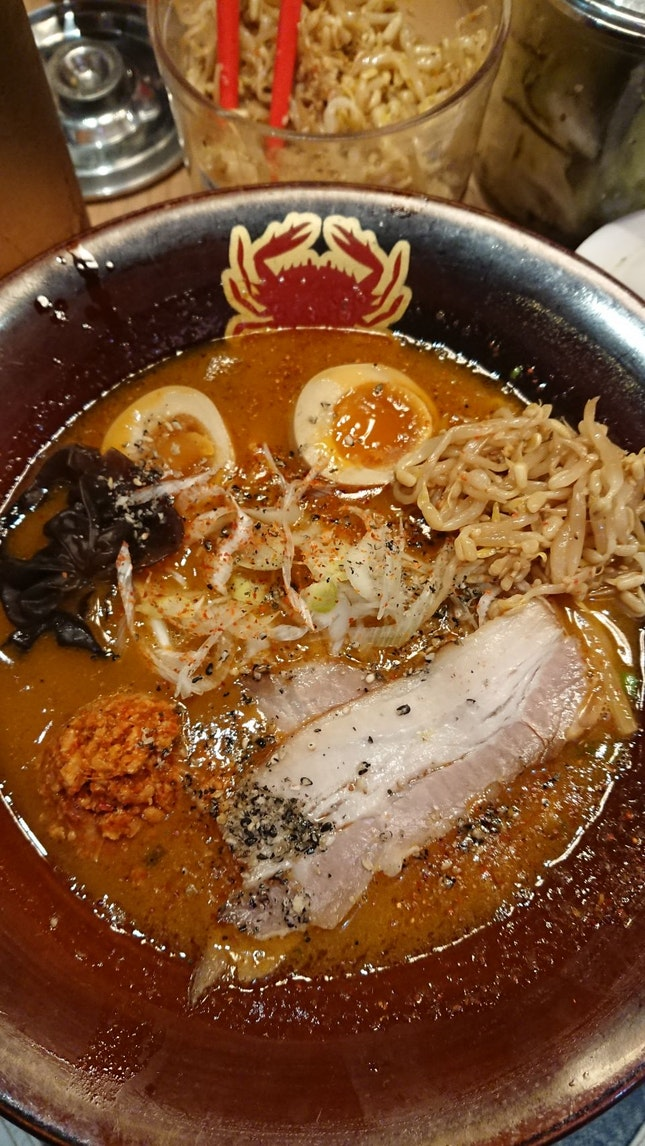 Spicy Crab Broth Ramen With Flavoured Egg