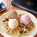 Trio ice cream waffles [RM 28.90].
