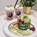 There's always a smile with pancakes~ Delight in @gram_pancakes_singapore Winter Special, Azuki Matcha Pancakes ($16.90).