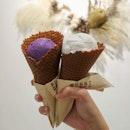 Ube ($6) & Thai Coconut Lychee ($7)