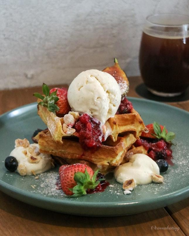 Summer Fruits Waffles ($18)