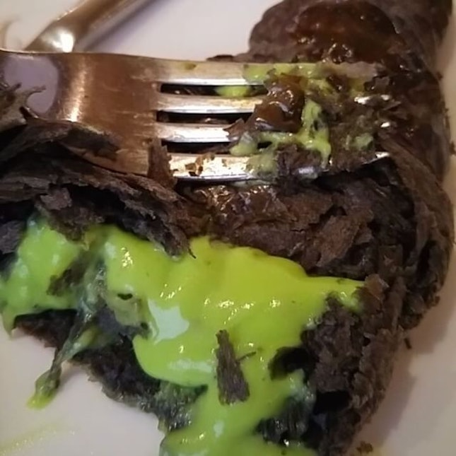 Charcoal Kaya Croissant 《$6》 Any fans of Kaya?