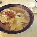 药材黄酒面线 Mee Suah with Herbs and Ginger Wine #soupertang #burpple #wine #noodle #汤师傅