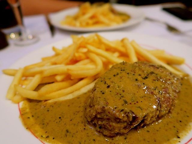 XXL Entrecôte Steak - $54.90 The portion is really huge that we can share among 2.