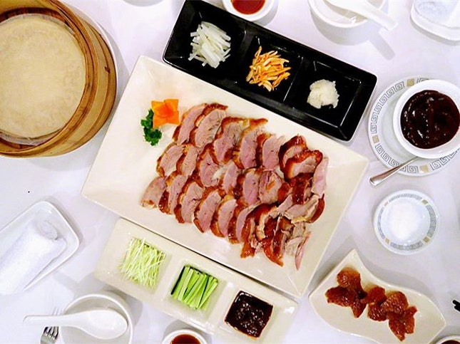 Wood Fired Beijing Duck - $45, half portion You can't eat it if you didn't preorder in advance.