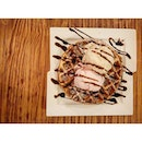 Waffle with 2 Scoops of Ice Cream - $16.50