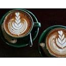 ☕️ : Lychee rose latte • Mint chocolate latte  #ig #igjb #jbeats #jbcafes #burpple #coffee #coffeeart #coffeetime #latte #weekendfun #lycheerose #mintchocolate #headmost #jwc
