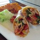 Mango shrimp wrap