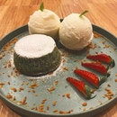 Matcha lava cake @zenandcoffee ,(RM16) with extra scoop of ice cream due to the crowd during dinner on Saturday.