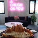 Hey there, croissant with ice cream, I got a crush on you..