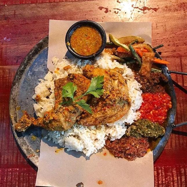 Balinese ayam bertutu (RM35+10% service charge) .