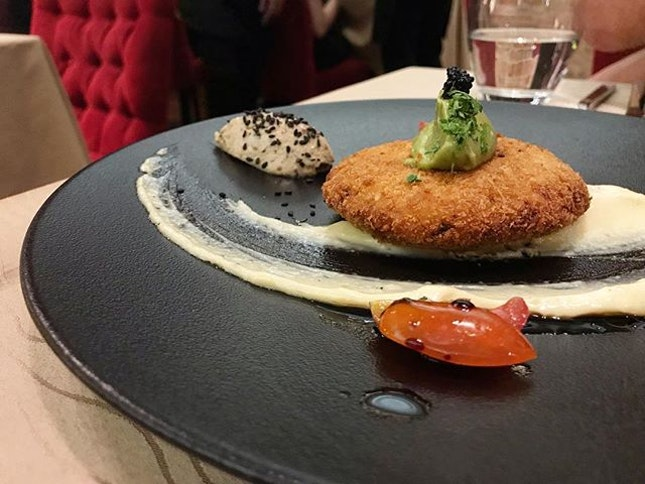 """Indeed a very, very special meal, and this is one of the """"small plates"""" I had- crab cake."""