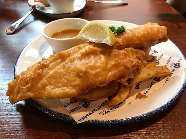 Legendary fish and chips (RM62+) ...