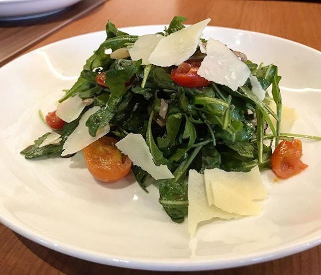 This may be a very very ordinary looking rocket salad..