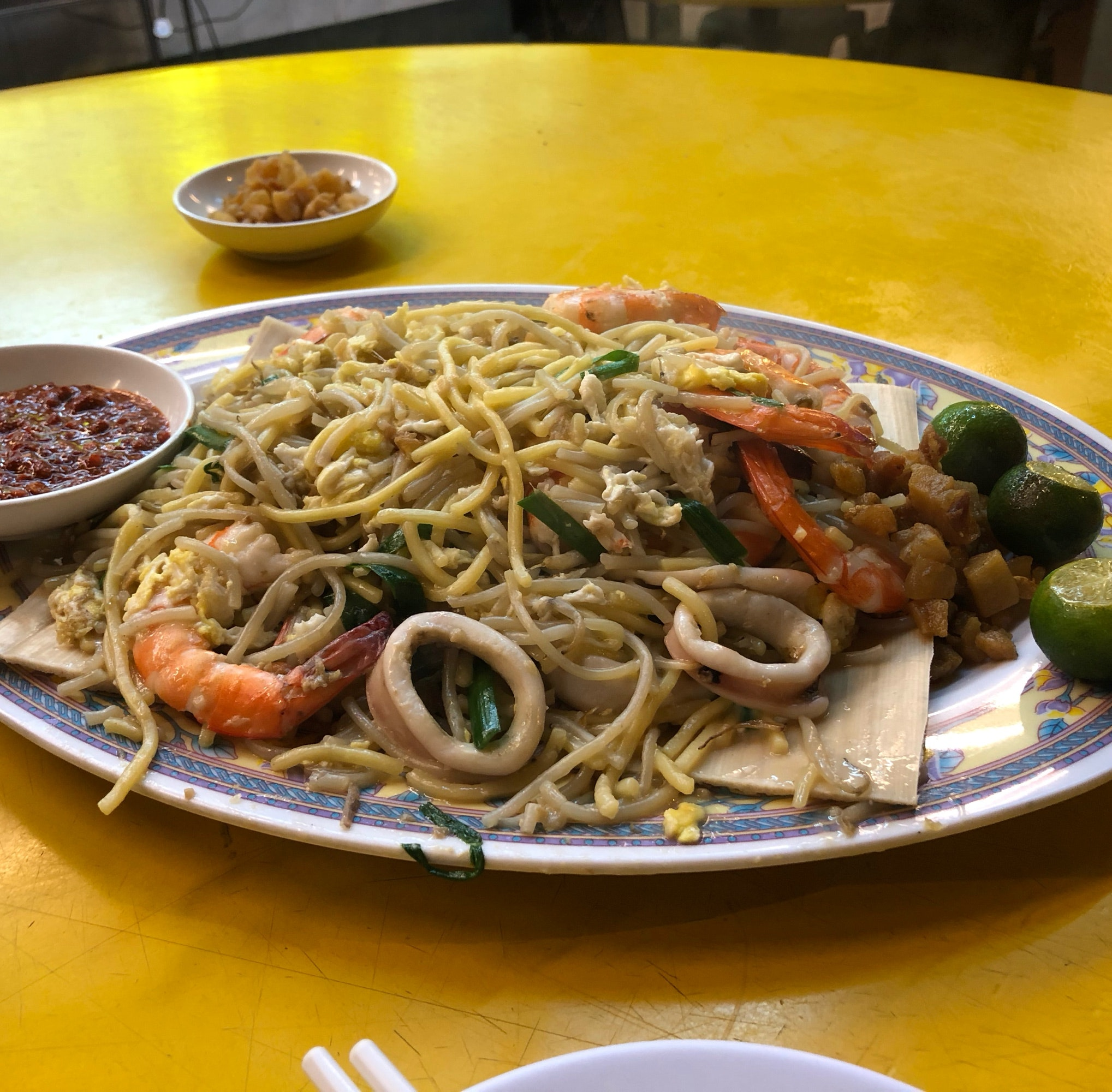 Mediocre Hokkien Mee and Sotong