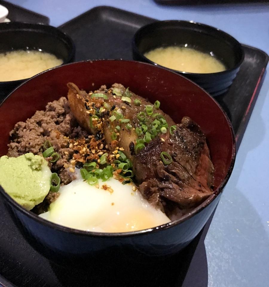 [$17.50] Tajima Wagyu & Truffle Wagyu Bento