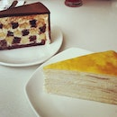 Pretty nice Mille Fueille and Checkered Cake