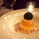 Vanilla dome with chocolate crumble & brandy sponge 🍴🍷💗 #Clarets