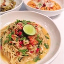 Capellini with garlic chilli, crab prawns, white wine, & coriander 🍴🍷❤️ #marioandluigi #thebiggroup