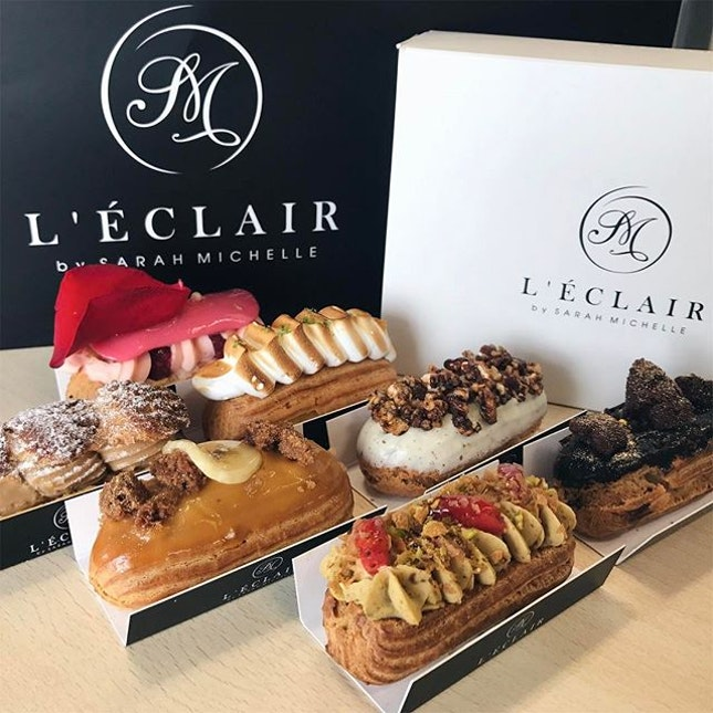 Sweet treat as we gotten boxes of mini eclairs yesterday.