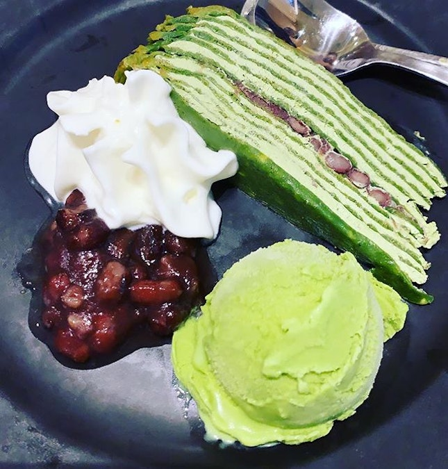 Throwback to delectable crepe accompanied with heavenly matcha ice-cream