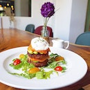 Eggs Benedict with Smoked Salmon & Avocado ($14.90) from @ClassifiedCafe - flawless poached egg, brilliant accompaniment of homemade hash brown, smoked salmon, avocado & well-executed hollandaise served in a tiny jar.