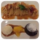 Lobster Angel Hair Capellini and Chocolate Lava Cake