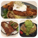 Fried Juicy Chicken BBQ Ribs Matcha Pancakes