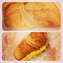 Subway breakfast with @xinpeii we are enjoying our life!