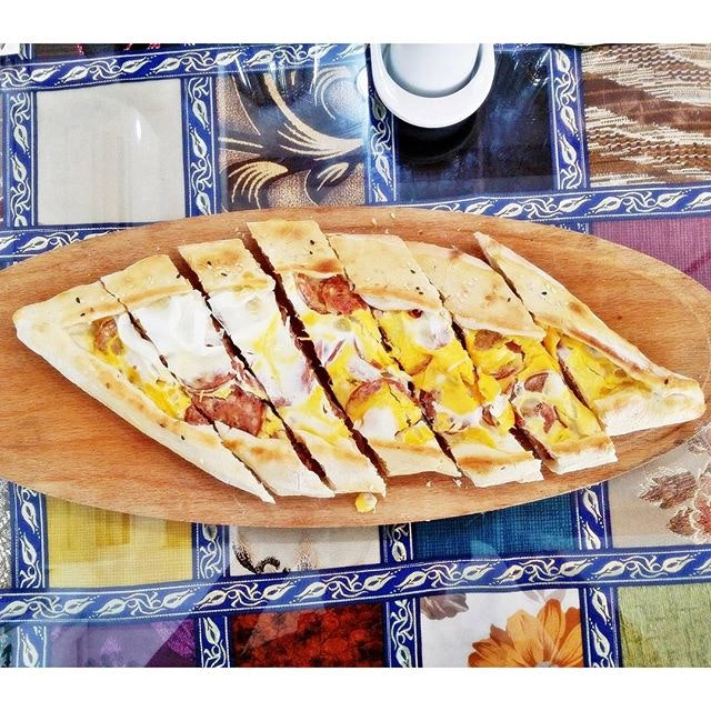 Sucuk And Egg Pide (SGD $17) @ Istanblue Mezze & Grill House.