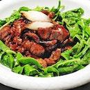 Stewed Pork With Brown Sauce & Spinach (SGD $16) @ Jim Garden.