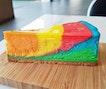 Rainbow Eggless Cheesecake (SGD $6.80) @ Black & Ink.