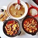 Comforting Claypot Meal (SGD $35.40) @ Lau Wang Claypot Delight.